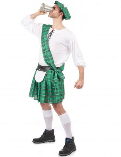 Déguisement Écossais vert et blanc homme-1