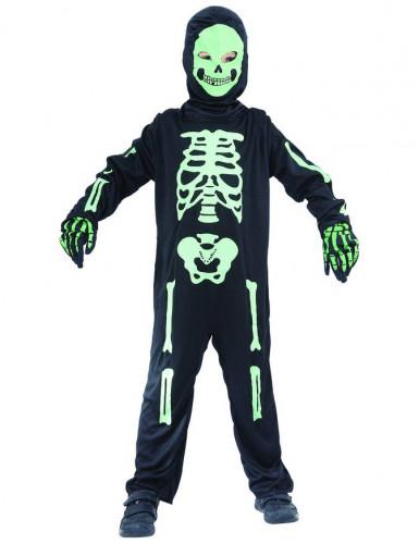 Déguisement Squelette vert enfant