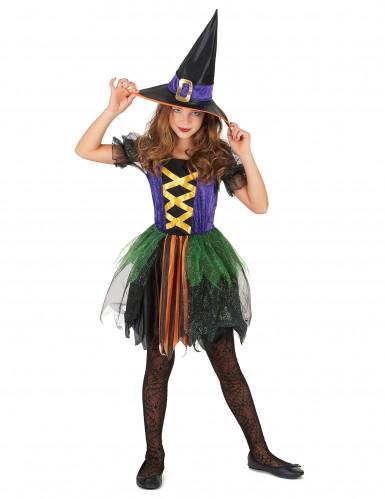 Déguisement sorcière multicolore fille