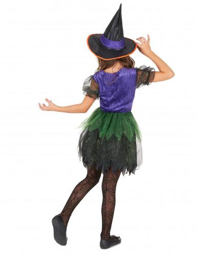 Déguisement sorcière multicolore fille-2