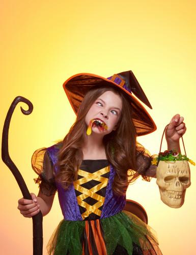 Déguisement sorcière multicolore fille-3