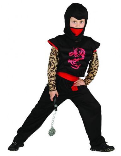Déguisement Ninja rouge et noir enfant