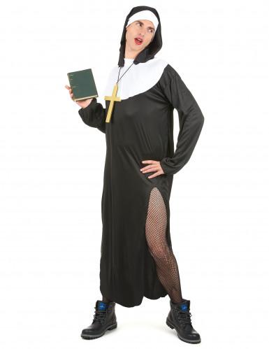 Déguisement nonne humoristique homme-1
