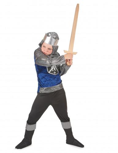 Déguisement chevalier bleu nuit garçon-1