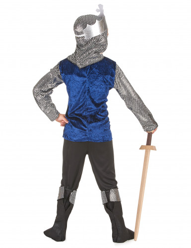 Déguisement chevalier bleu nuit garçon-2