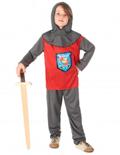 Déguisement chevalier rouge et gris garçon
