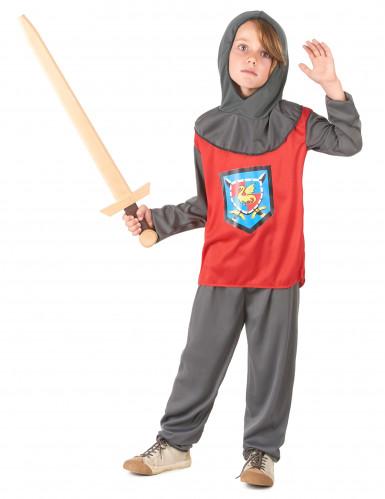 Déguisement chevalier rouge et gris garçon-1