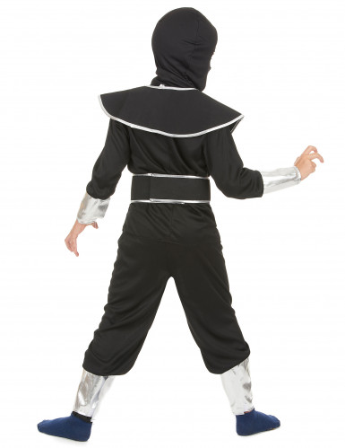 Déguisement ninja noir et argenté garçon-2