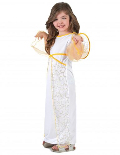 Déguisement ange blanc de Noël fille-1