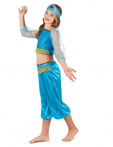 Déguisement danseuse orientale bleue fille-1