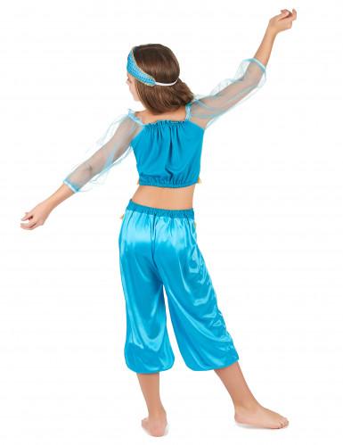 Déguisement danseuse orientale bleue fille-2