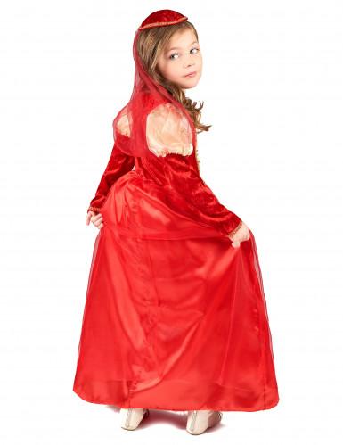 Déguisement médiéval rouge fille-2