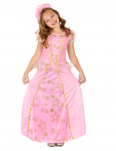 Déguisement princesse rose enfant-1