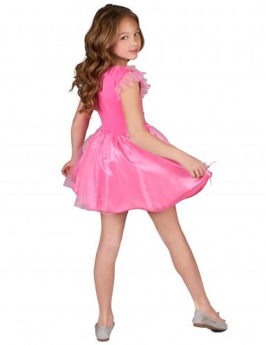 Déguisement princesse paillettes roses fille -2