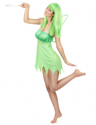 Déguisement fée verte femme-1