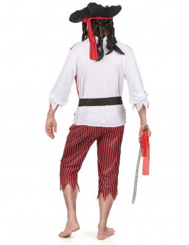 Déguisement pirate rouge et blanc homme-2