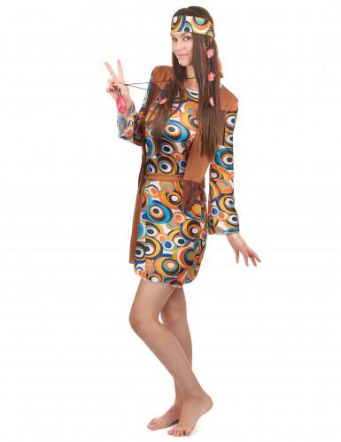 Déguisement hippie motifs ronds femme-1