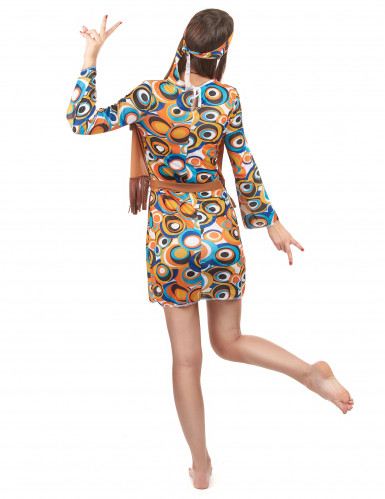 Déguisement hippie motifs ronds femme-2