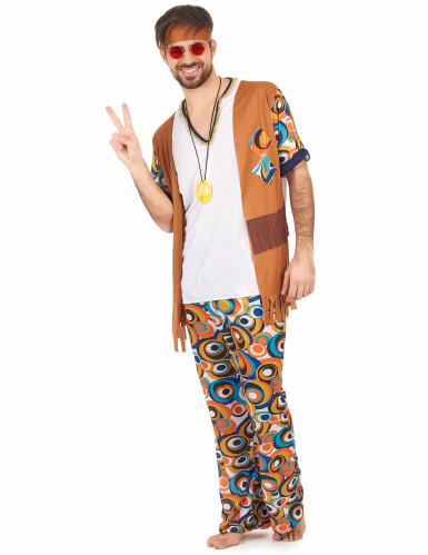 Déguisement hippie motifs ronds homme-1