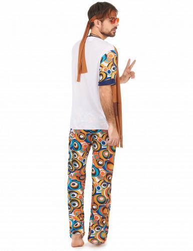 Déguisement hippie motifs ronds homme-2