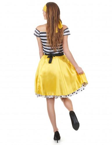 Déguisement années 50 jaune Femme-2