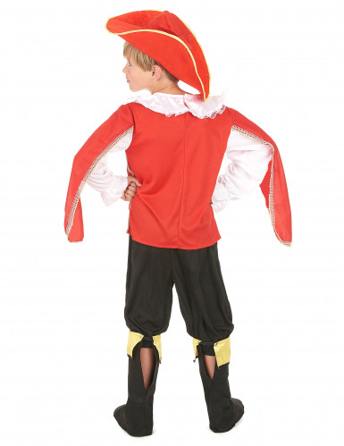 Déguisement Mousquetaire rouge garçon-2