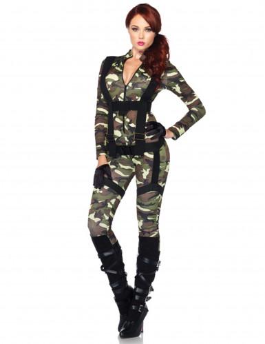 Déguisement militaire combinaison femme