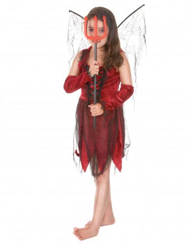 Déguisement fée maléfique rouge et noire fille-1