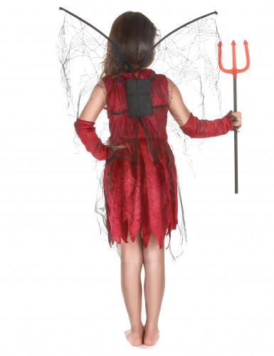 Déguisement fée maléfique rouge et noire fille-2