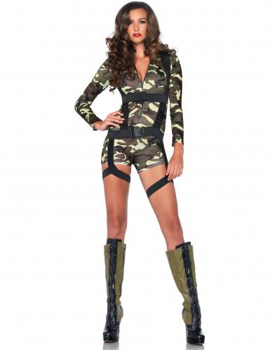 Déguisement militaire combishort femme