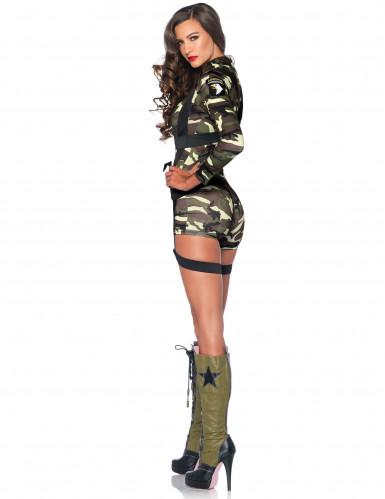 Déguisement militaire combishort femme-1