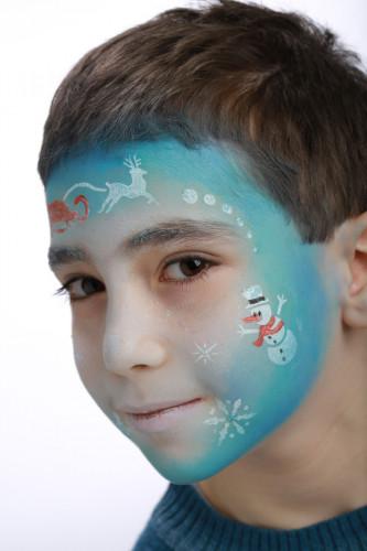 Pochoir de maquillage réutilisable princesse des neiges Grim'Tout®-2