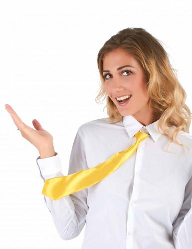 Cravate jaune fluo adulte-1
