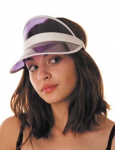 Visière joueur de poker violet adulte