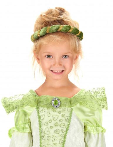 Coiffe médiévale verte fille-2