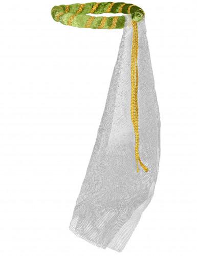 Coiffe médiévale verte fille-1