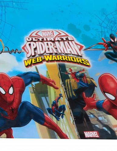 Nappe en plastique Spiderman Web-Warriors™ 120 x 180 cm-1