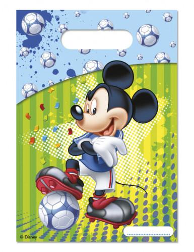 6 Sacs cadeaux Mickey Foot™ 16,5 x 23 cm