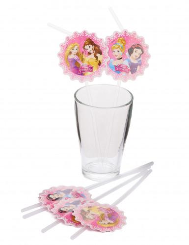 6 Pailles Princesses Disney ™-1