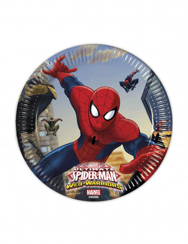 8 Assiettes en carton Spiderman ™ 20 cm