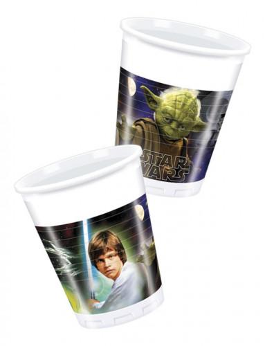 8 Gobelets en plastique Star Wars™ 200 ml