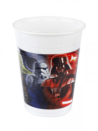 8 Gobelets en plastique Star Wars™ 200 ml-1