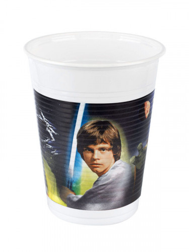 8 Gobelets en plastique Star Wars™ 200 ml-2