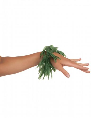 Bracelet poignet ou cheville feuilles tropicales-2