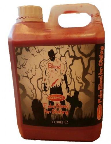 Faux sang pour textile 2 L Halloween