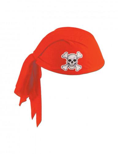 Chapeau bandana rouge pirate adulte