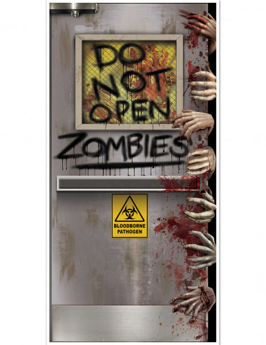 Décoration de porte laboratoire zombie 76 x 152 cm