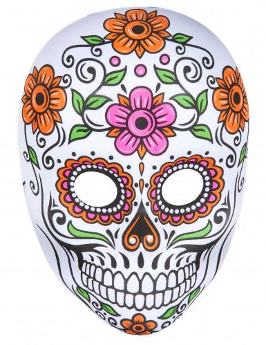 Masque squelette coloré adulte Halloween