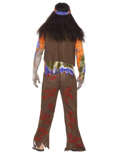 Déguisement zombie hippie homme Halloween-2