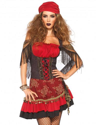 Déguisement gitane rouge sexy femme-1